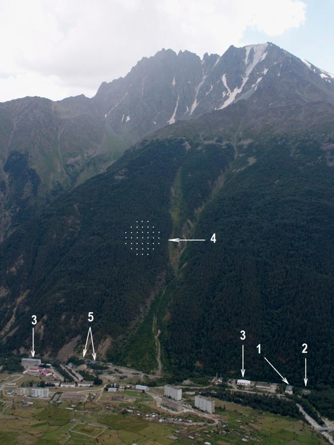 Вид на пос. Нейтрино и гору Андырчи